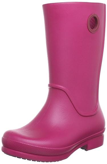 buy popular 7fc6a 5bca3 crocs Wellie Rain Boot 12473, Mädchen Gummistiefel