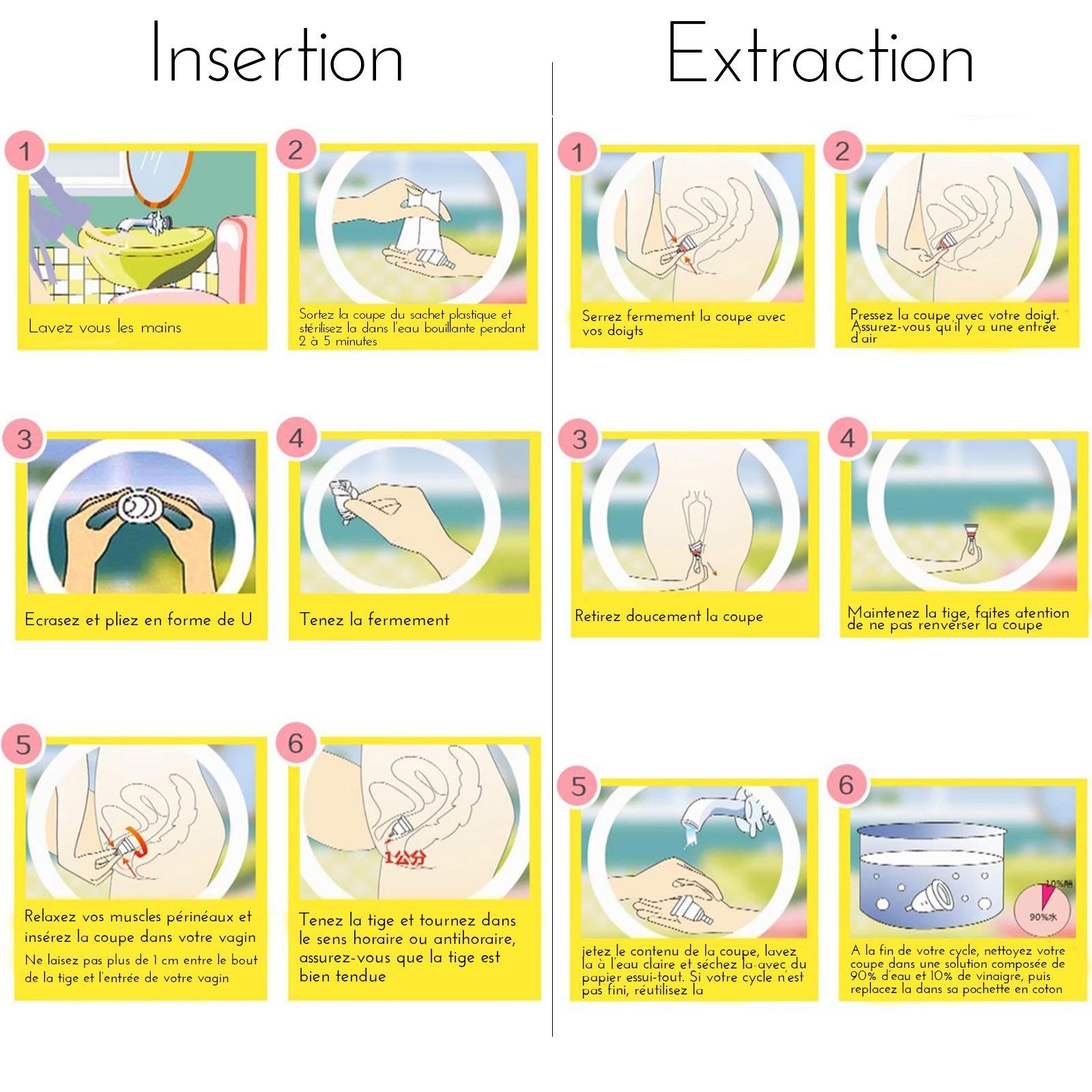 Aneer® Coupe Menstruelle en TPE de Qualité Medicale, Remplace efficacement Tampon et Serviette Hygiénique, Cup Menstruelle Petite Taille Rose