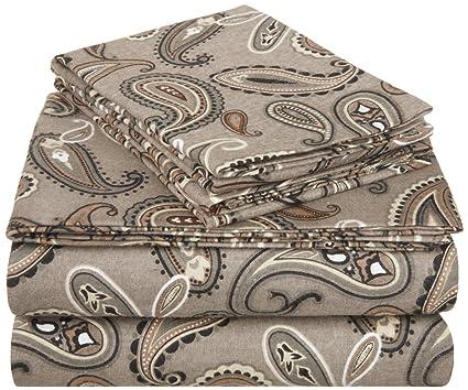 Impressions Superior - Juego de sábanas de Franela 152 x 203 cm, de algodón,