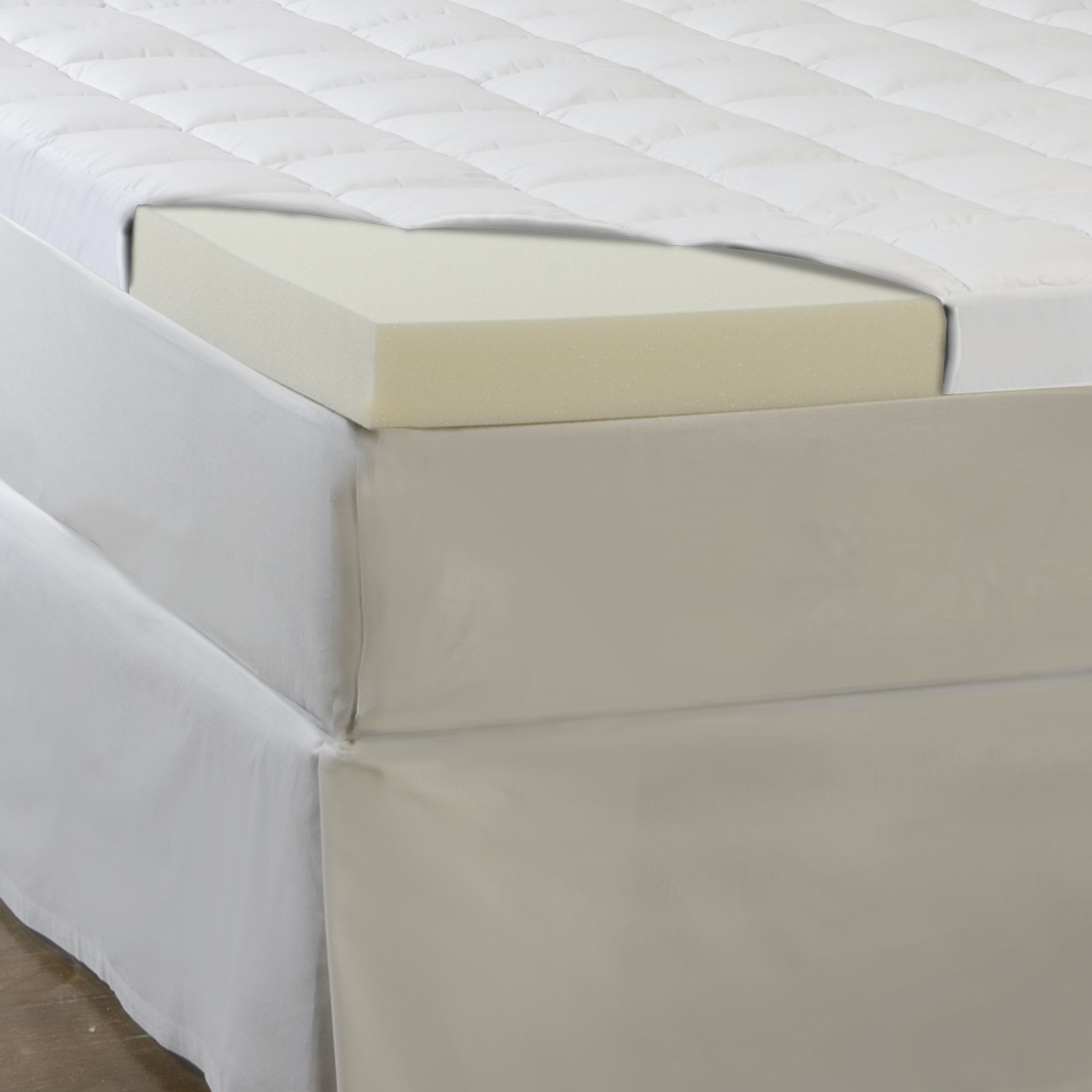 Hotel Comfort 5.5-Inch Memory Foam and Fiber Topper, Queen