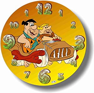 Art time production The Flintstones 11'' Handmade Wall Clock - Get Unique décor for Home or Office – Best Gift Ideas for Kids, Friends, Parents and Your Soul Mates