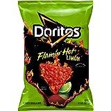 Doritos Tortilla Chips Flamin' Hot Limon oz Bag, Cheddar Cheese, 9.25 Ounce