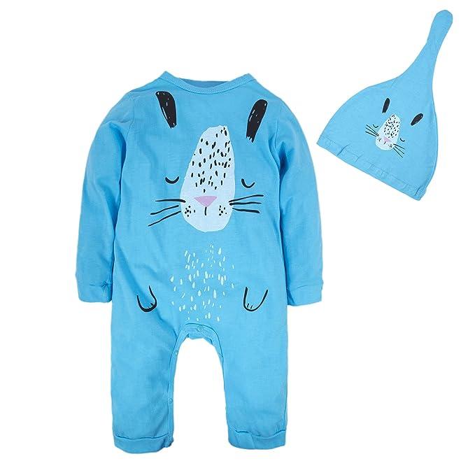 839043d99e86 Amazon.com  BIG ELEPHANT Baby Boys 1 Piece Cute Long Sleeve Graphic ...