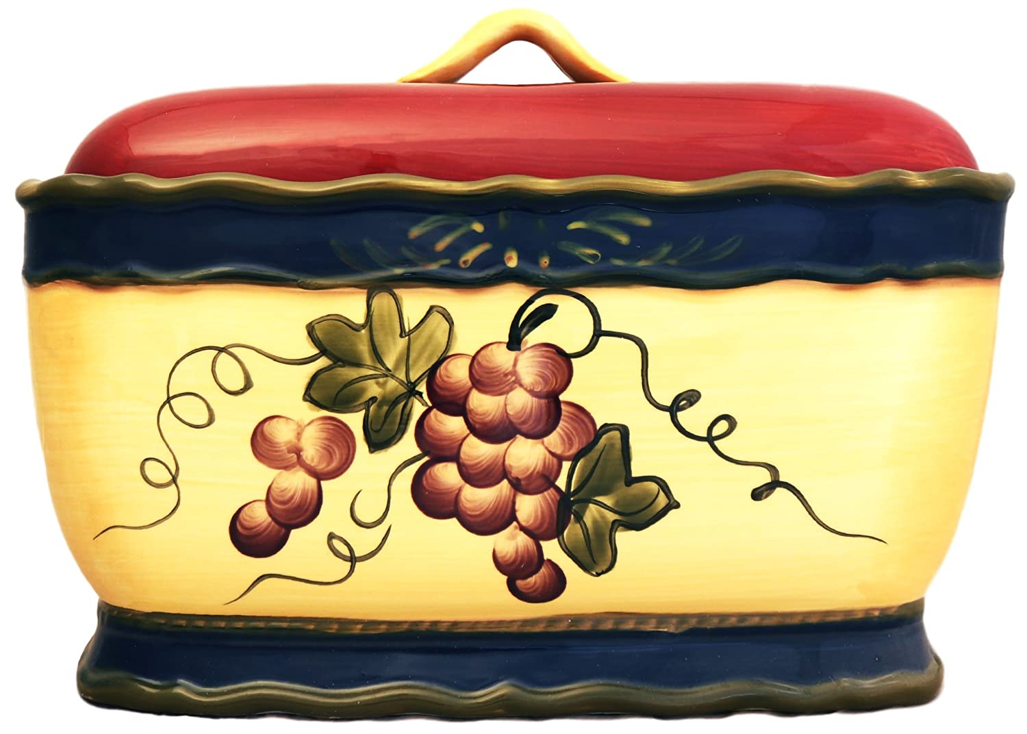 Colorful Grapes Bread Box