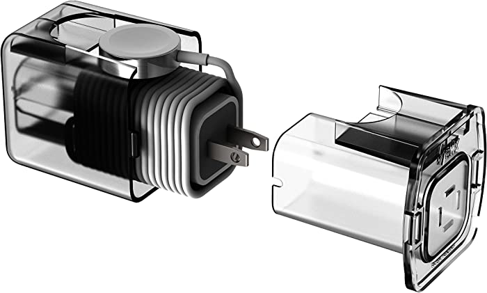 Helix Charging Dock Housing for Your Apple Watch Charger and Cable (Clear)
