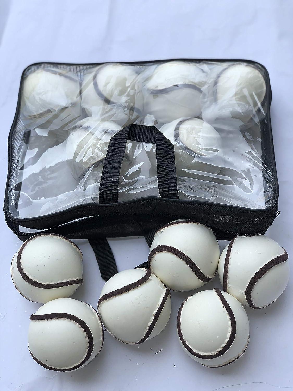 Sliothars 12 Balls//1 Dozen Breezy Hampton Hurling All Weather Wall Ball Sliotars White Color GAA Size 5