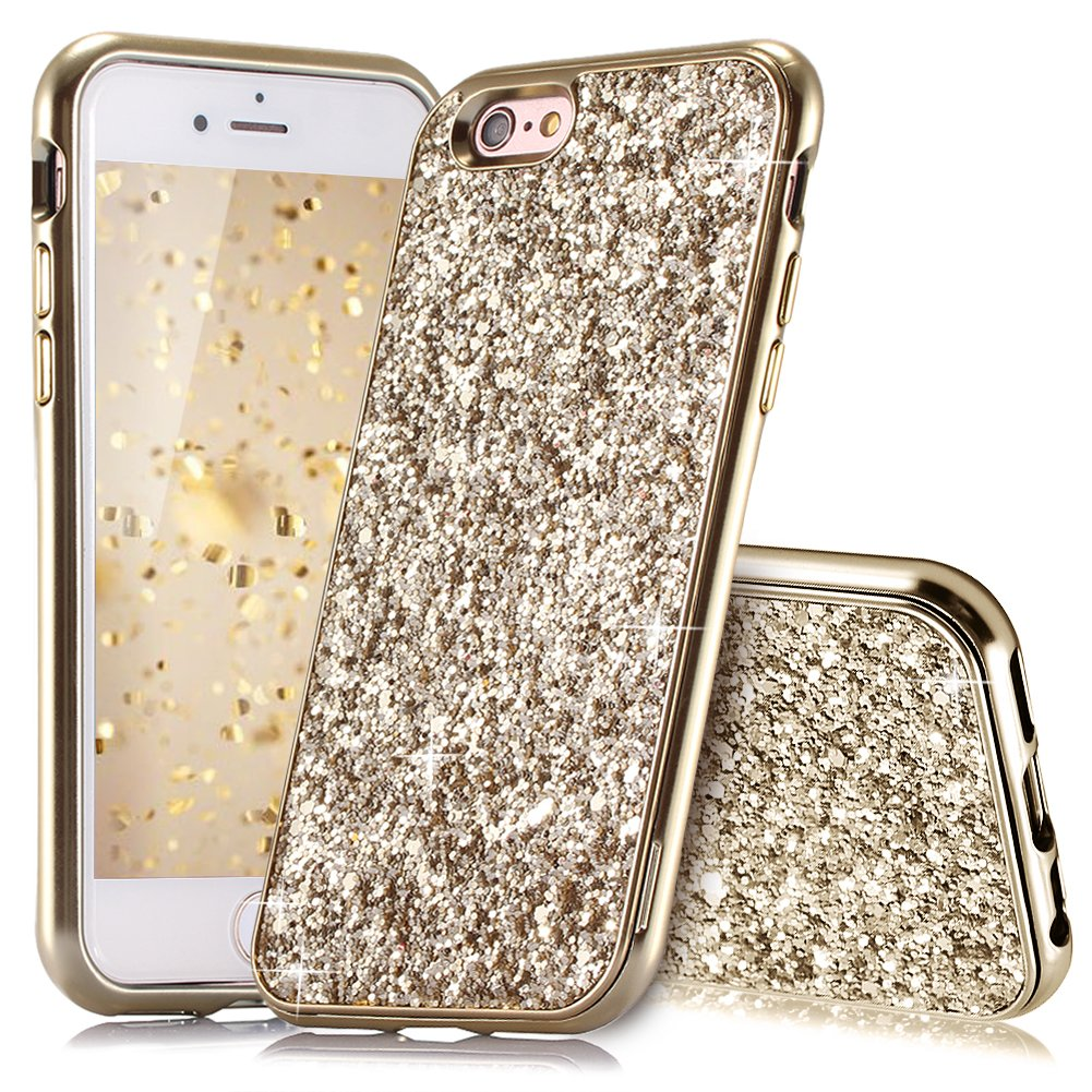 iPhone 6 Plus Hü lle, iPhone 6S Plus Hü lle Glitzer, Huphant [2 in 1] iPhone 6 Plus Hü lle Luxus Sparkle Bling Glitter Phone Case Stoß fest Ultra Slim Anti-Scratch Hard PC Case Stoß fä nger Rü ckseitige Abdeckung f&uuml