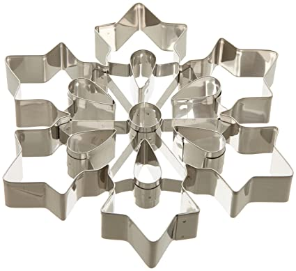 Amazon Ateco 14429 Large Snowflake Cookie Cutter Stainless