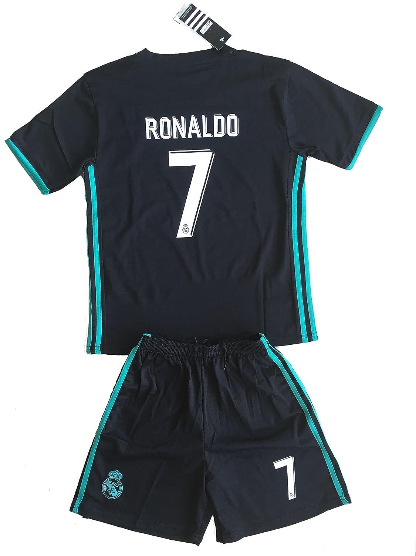 gigi guan Season 2016-17 Soccer Jersey Football Shirt and Shorts A Set Kids//Youths #7 Away Black