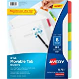 Avery Movable Tab Dividers, 8 Tabs (16751)