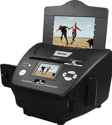 Rollei PDF-S 240 SE - Multi escáner de 5,1 megapíxeles para diapositivas, negativos y fotos, incl. Software de edición de imágenes, Negro