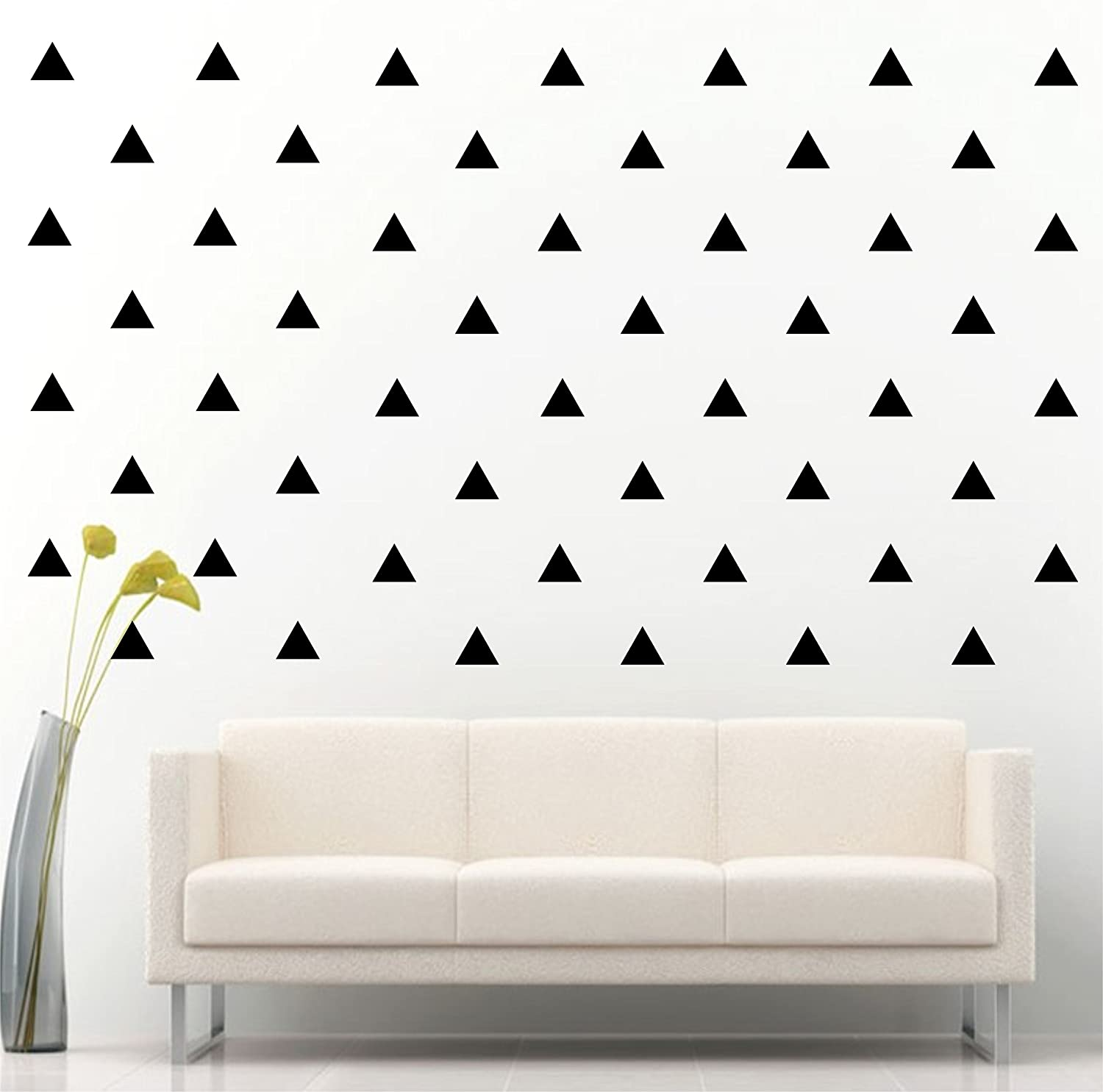 Amazon Com Jcm Custom Removable Easy Peel And Stick Wall Vinyl Decal Sticker Diy Decor Safe On Painted Triangle Black Set Of 96 Home Kitchen