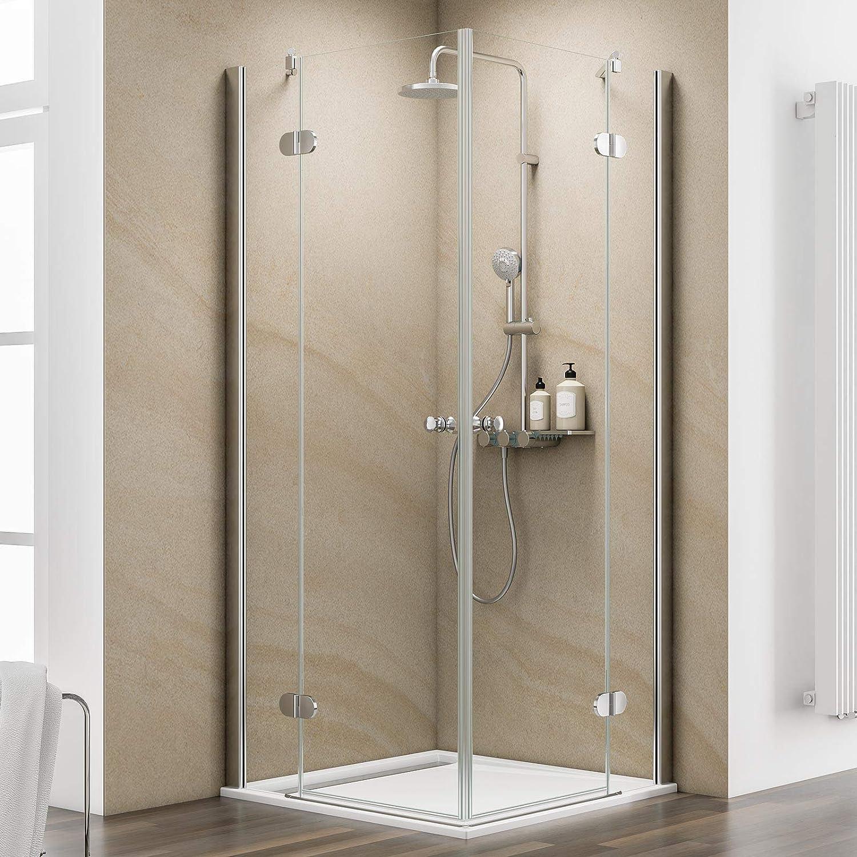 Schulte cabinas de ducha esquina. 90 x 90 cm drehtüren 6 mm cristal con cristal sellado cromo Piazza, 1 pieza, chromoptik, 4056397002574: Amazon.es: Bricolaje y herramientas