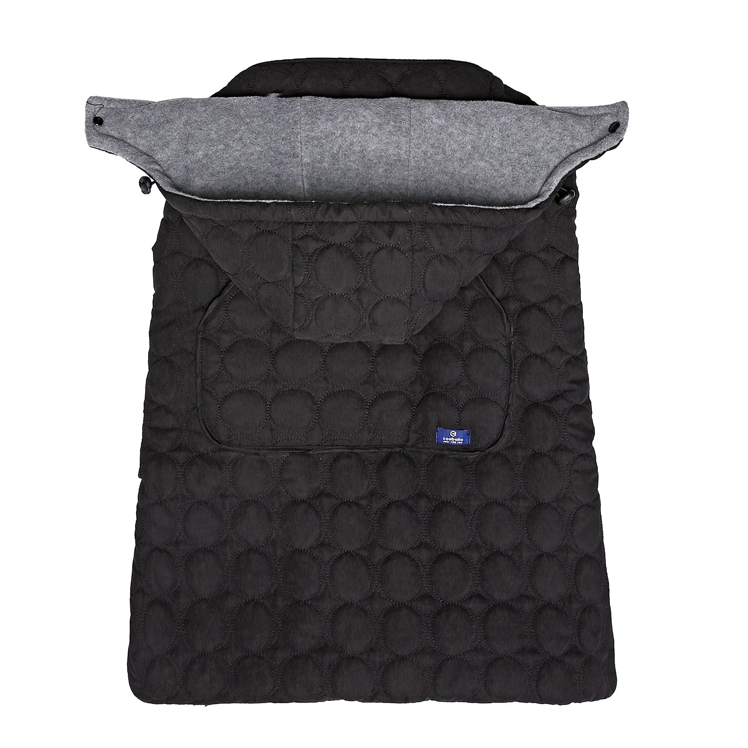 Coaballa Universal Baby Stroller Footmuff Sleeping Bag and Carrier Warmer Windbreaker-Black