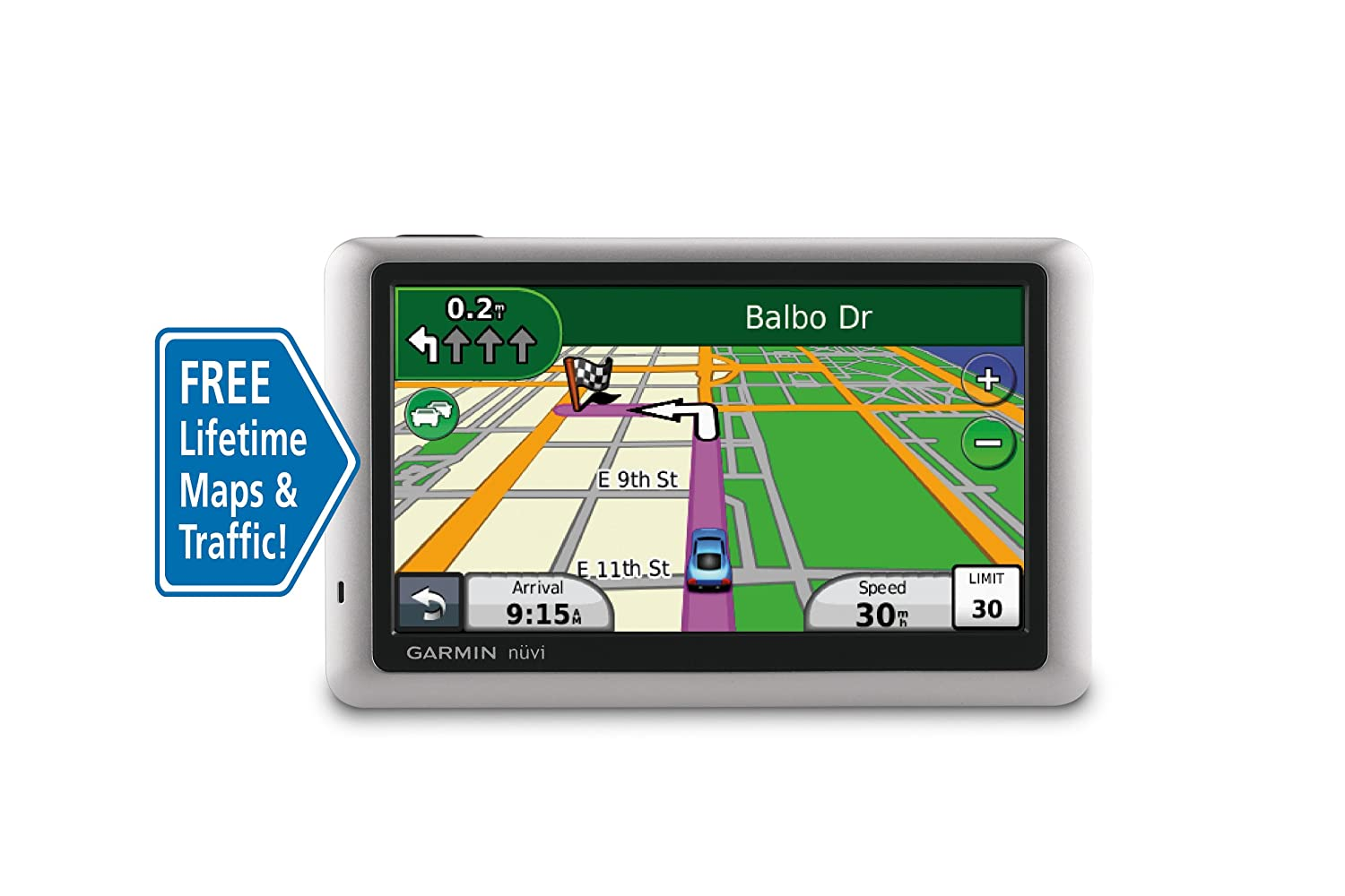 Amazon Com Garmin Nuvi 1450lmt 5 Inch Portable Gps Navigator With Lifetime Map Traffic Updates Discontinued By Manufacturer Garmin Home Audio