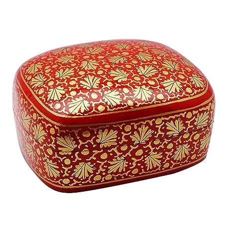 Cachemira de papel cartón piedra pintado a mano floral cajas de recuerdo regalo de la joyería