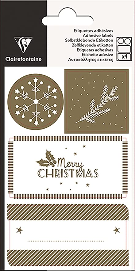 Amazon.com: Clairefontaine 617034C 12 x 7.5 cm Christmas ...