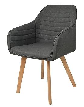 Ts Ideen Fauteuil Club Lounge Design Chaise De Bar En Bois