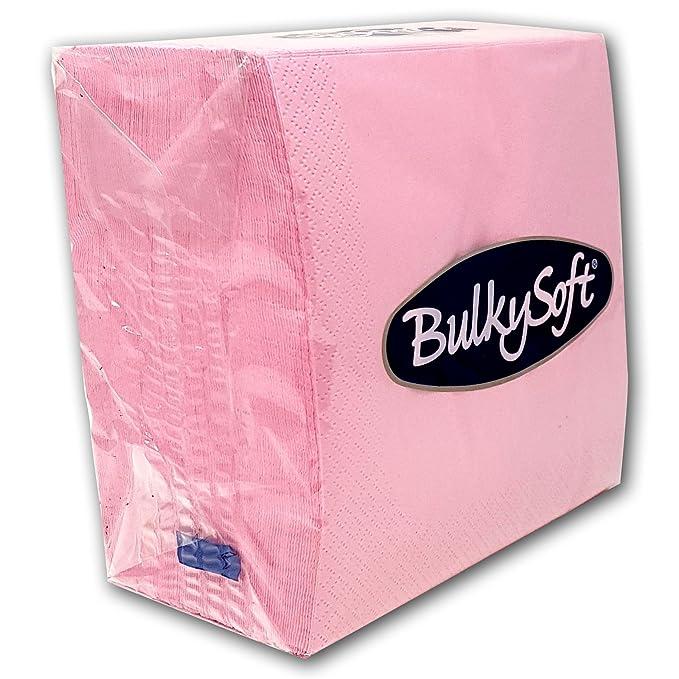 Paper Serviettes Soft Napkins 33x33cm 2PLY BulkySoft Solid Colours Choose Colours Pink, 100