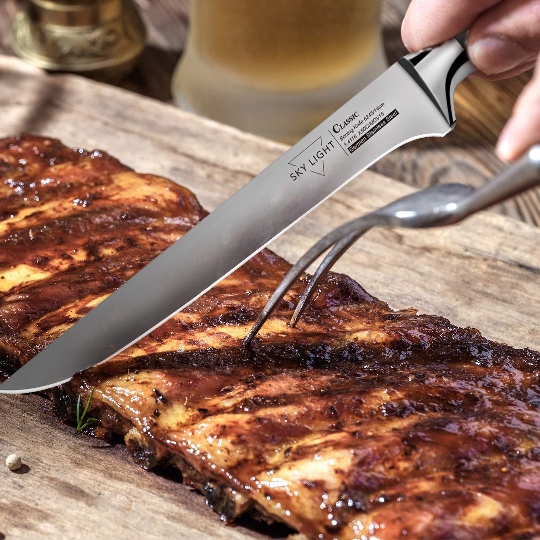 Amazon.com: Juego de 4 cuchillos de filete, cuchillo de ...