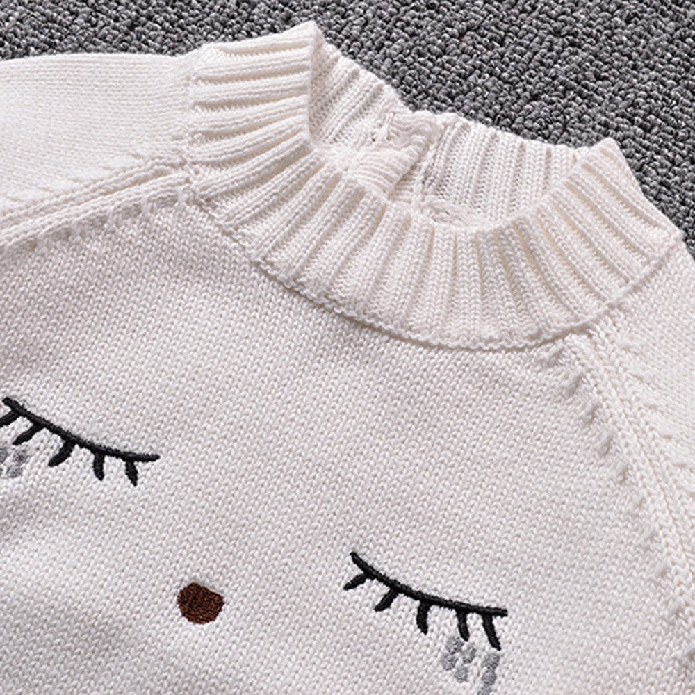 c1f1382f7 Amazon.com  KONFA Baby Girls Boys Expression Knitting Sweater Blouse ...