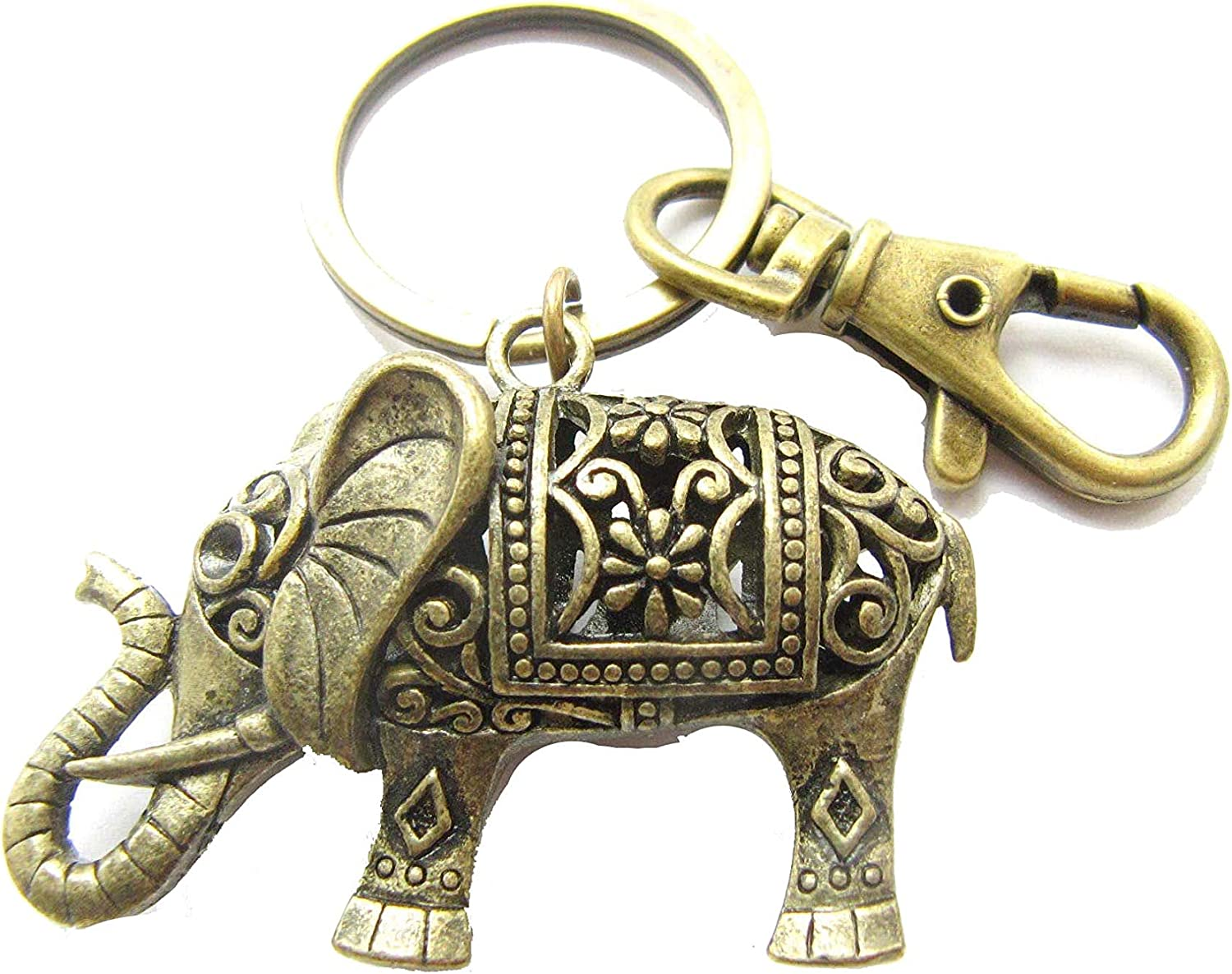 Lucky elephant cute keyring animal keychain small coworker gift K76 elephant lover Christmas gifts