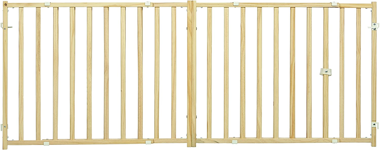 """MidWest Extra-Wide Swing Pet Safety Gate, Expands 50.25 - 94"""" Wide, 24"""" Tall"""