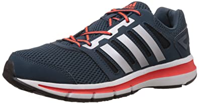 7212f2072e2ba Adidas Men's Magnus 1.0 M Black, Silver and Solar Red Mesh Running Shoes -  10