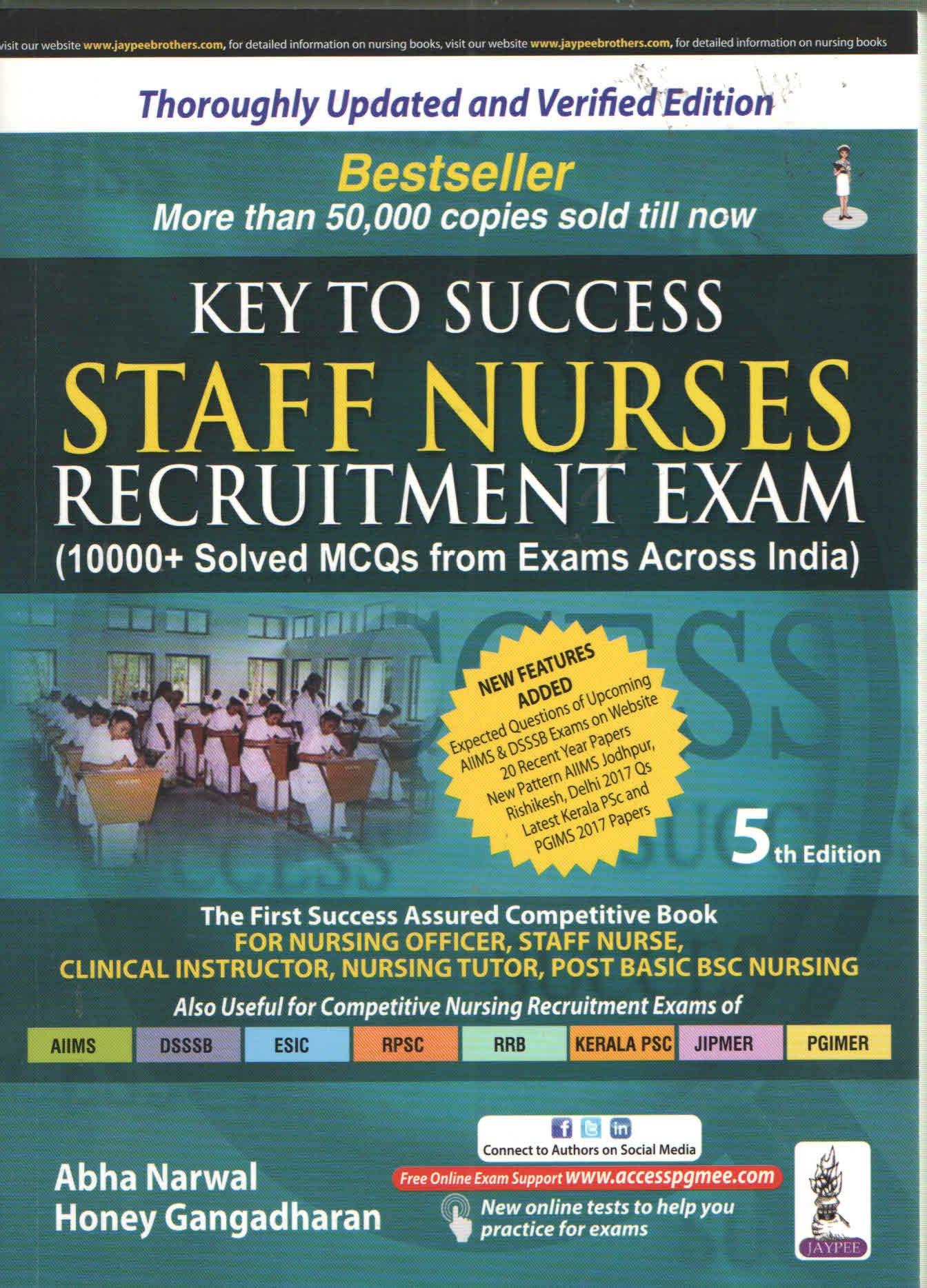 Buy Key To Success Staff Nurses Recruitment Exam 10000 Solved Mcqs