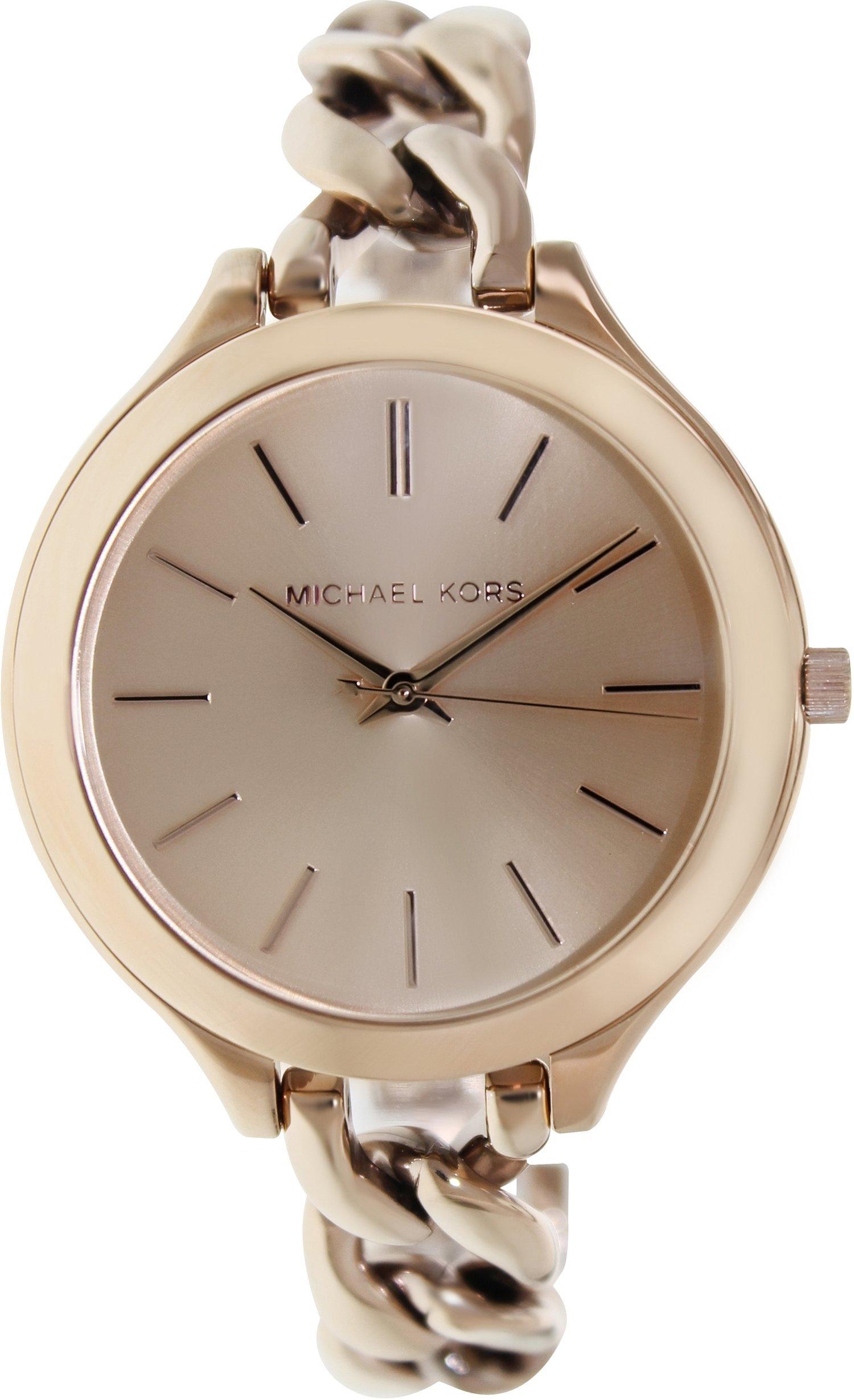 Michael Kors Women's MK3223 Slim Runway Rose Gold-Tone Stainless Steel Bracelet Watch by Michael Kors
