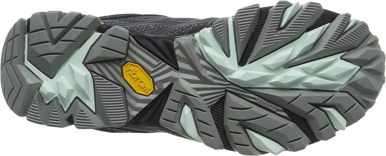 Merrell Moab Fst Mid Gore-Tex, Stivali da Escursionismo Alti Donna Nero Granite