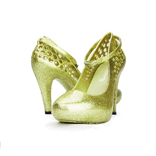bf519dc37c1f Chemistry High Fashion Ankle Strap Round Toe Sexy Stiletto High Heel Pump  Shoes Green (5