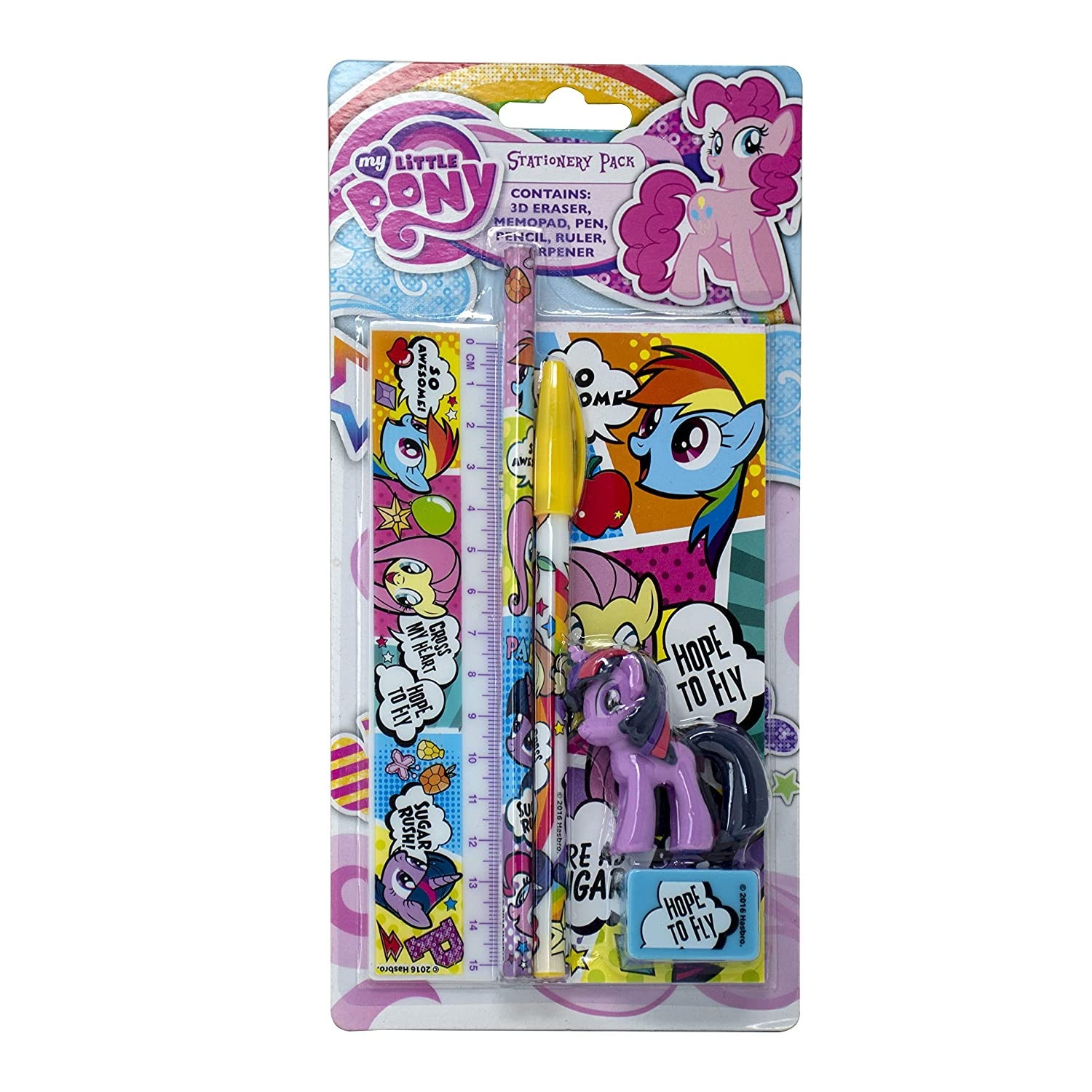 Hasbro My Little Pony Pencil and Eraser 12 Pack