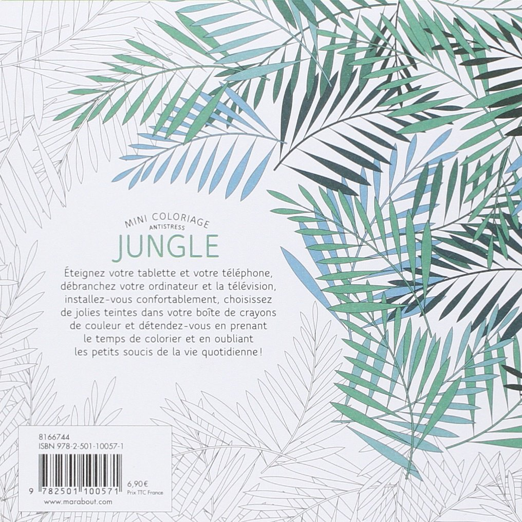 Mini coloriage anti stress Jungle French Edition Collectif Marabout Amazon Books
