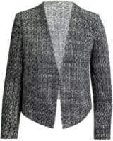CelebLook Frauen Flax Knitting Kragen Strukturierte Damen Blazer-Jacken-Mantel