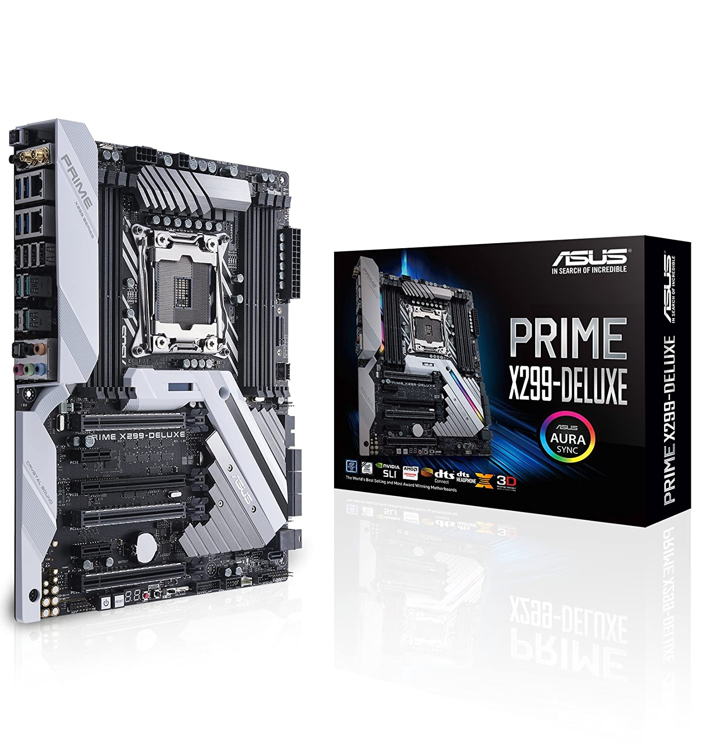 ASUS Prime X299-DELUXE LGA2066 DDR4 M.2 U.2 Thunderbolt 3 USB 3.1 X299 ATX Motherboard with Dual Gigabit LAN and 802.11AD WiFi for Intel Core X-Series Processors
