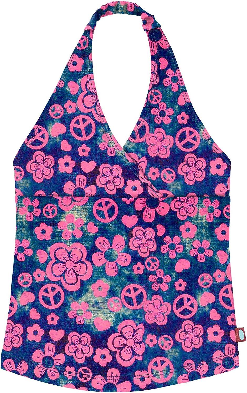5 City Threads Little Girls Tankini Swimsuit for Girls Toddler Bathing Suit Rash Guard Halter Top for Beach Pool Swimwear Woodstock