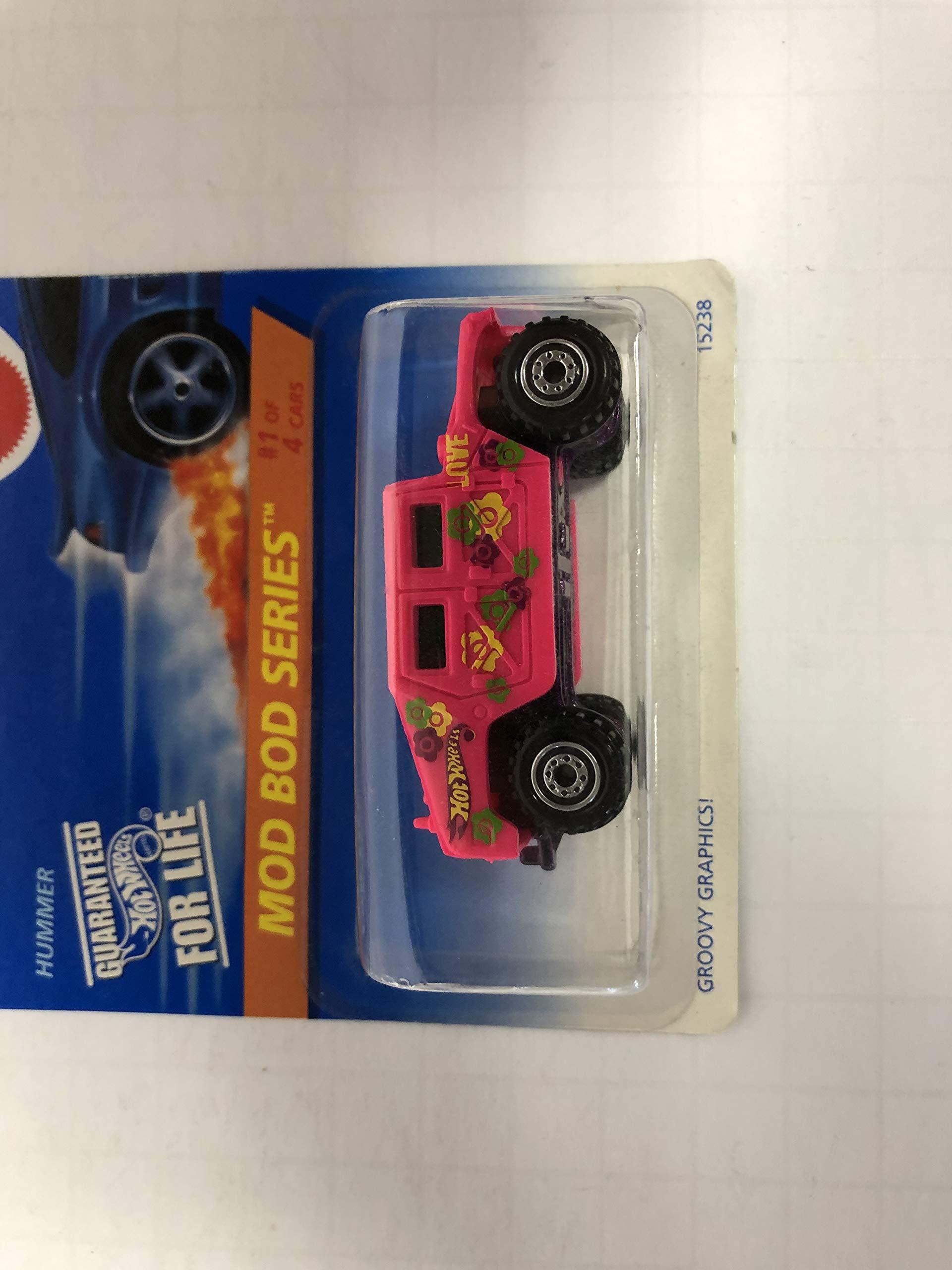 HUMMER (Pink Paint) Mod Bod Series 1996 Hot Wheels No. 15238 diecast 1/64 scale car