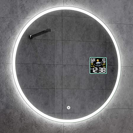 Alasta Moderne Miroir Rond Salle Bain 120 Cm Delhi