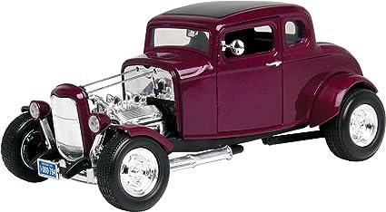 Ford Coupe Hot Rod 1932 rojo con llamas 1//18 Motormax modelo coche con o sin