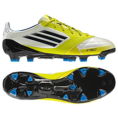 detailed look b76d6 481b5 Adidas F50 Adizero TRX FG Messi Leather White Black Lime V21433 Men s  Soccer Boots