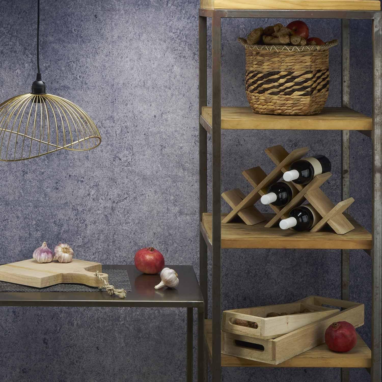 8 Botellas Color Natural Black Velvet Studio Botellero Vino Wine for 8 Madera de Mango Estilo n/órdico 6x12x40 cm.