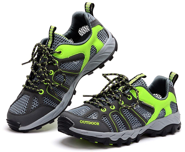 BingHang Men Mesh Quick Drying Aqua Water Shoes Walking Shoe 8.5 D(M) US|Dark Gray