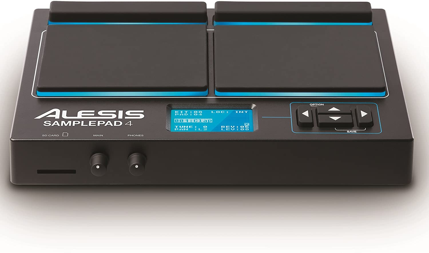 Alesis Sample Pad 4 Review the LED rubbers pads