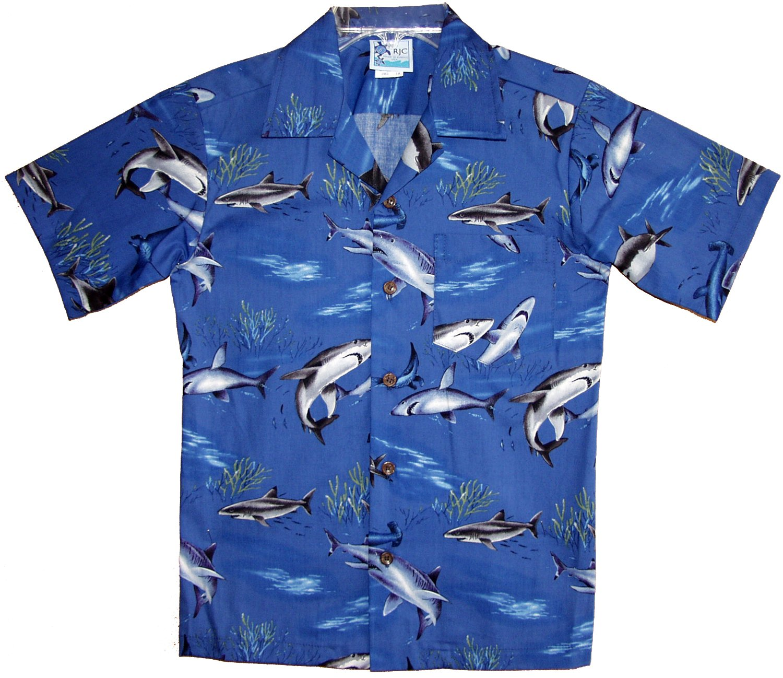 RJC Boys Sharks Shirt in Navy Blue - 2