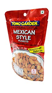 2 packs of Mexican Style Peanuts, Appetizingly Delicious Peanuts Snack from Tong Garden brand, Spicy roasted Peanuts with chilli. Fit For Active Lifestyle. (70g/ pack)