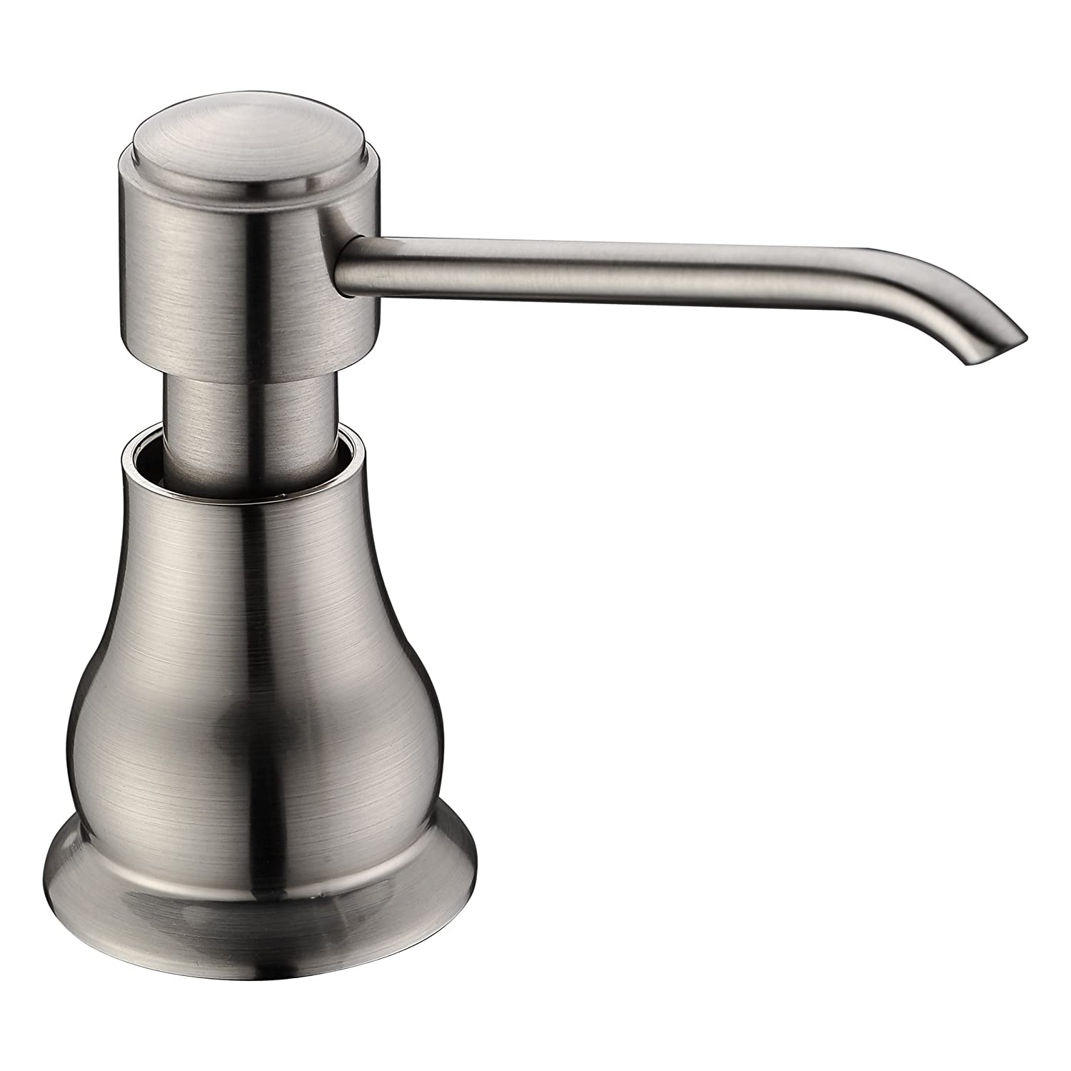 Brass Sink Soap Dispenser Pump Brushed Nickel Delle Rosa Brass Head
