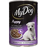 MY DOG Puppy Soft Turkey Loaf Wet Dog Food 400g Can 24 Pack