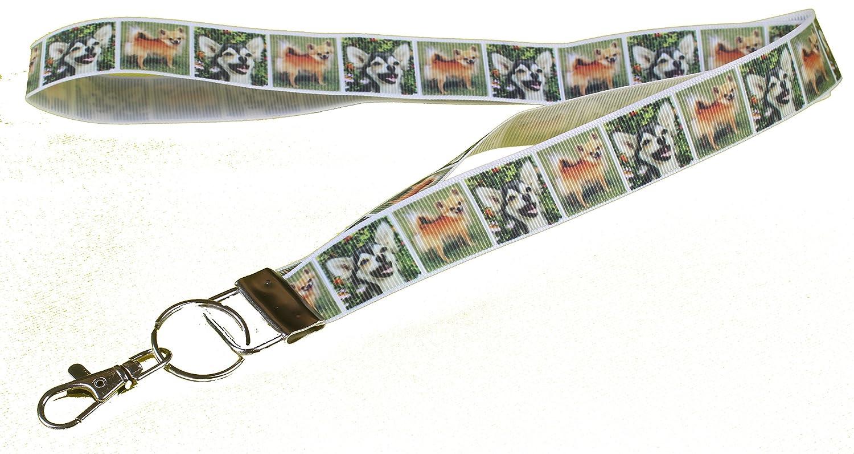 Chihuahua Long Hair Breed of Dog Lanyard Key Card Holder Perfect Gift
