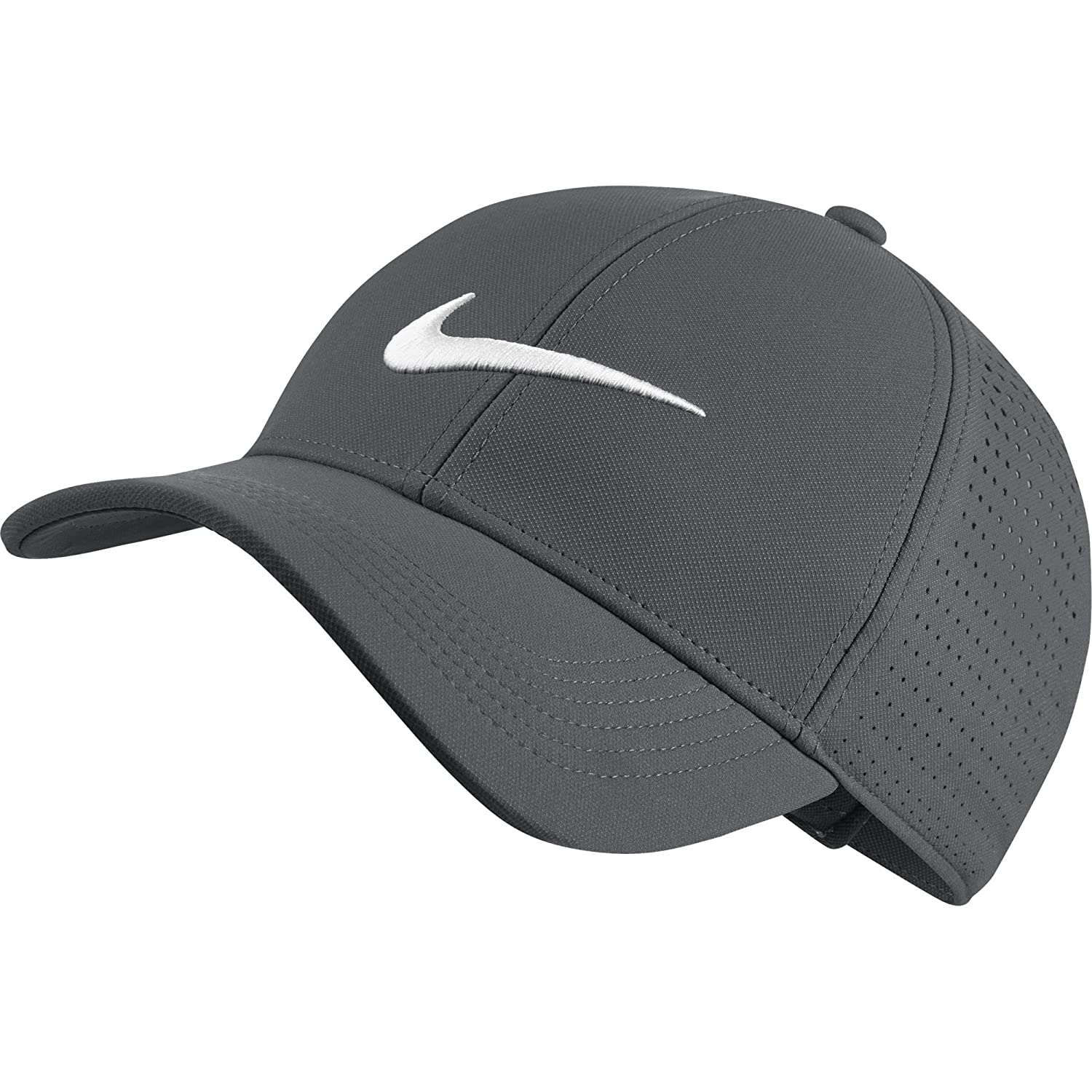 6b543a04 Amazon.com: NIKE Unisex AeroBill Legacy 91 Perforated Golf Cap, Black /Anthracite/White, One Size: Clothing